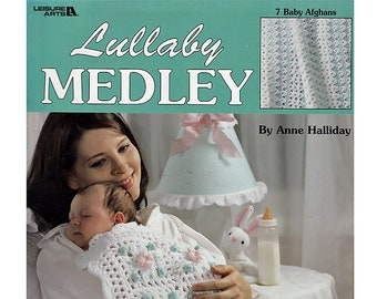 Lullaby Medley Baby Afghans Crochet Pattern booklet Leisure Arts 3088