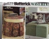 Storage Ottomans Original Butterick Waverly Uncut Sewing Pattern B4677