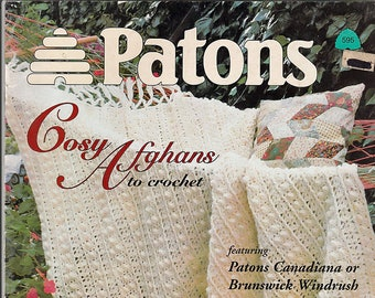 Patons Cosy Afghans 8 Designs to Crochet Pattern Book 595