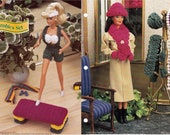 Aerobics Set and Wintertime Hats Accessories Annies Fashion Doll Crochet Club FC21-01 and FC02-03