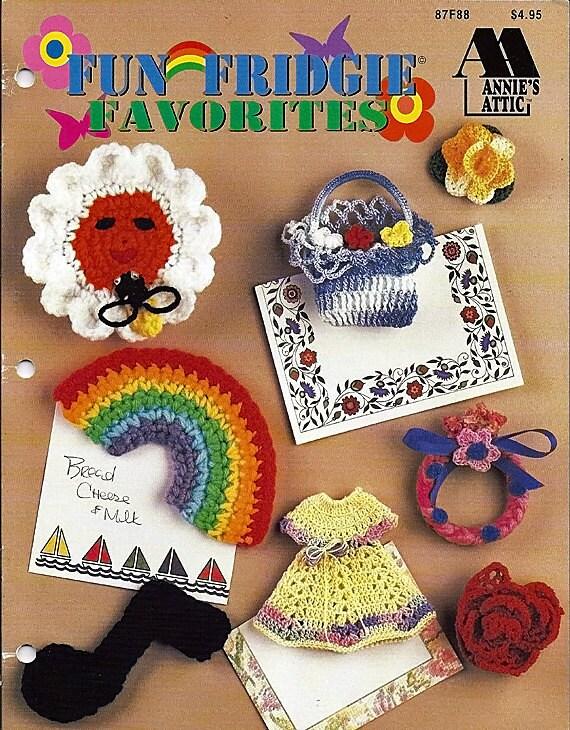 Fun Fridgie Favorites Crochet Pattern Book Annie Attic 87f88 Etsy