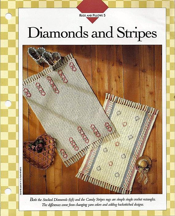 Diamanten und Streifen Teppich häkeln Muster Vanna | Etsy