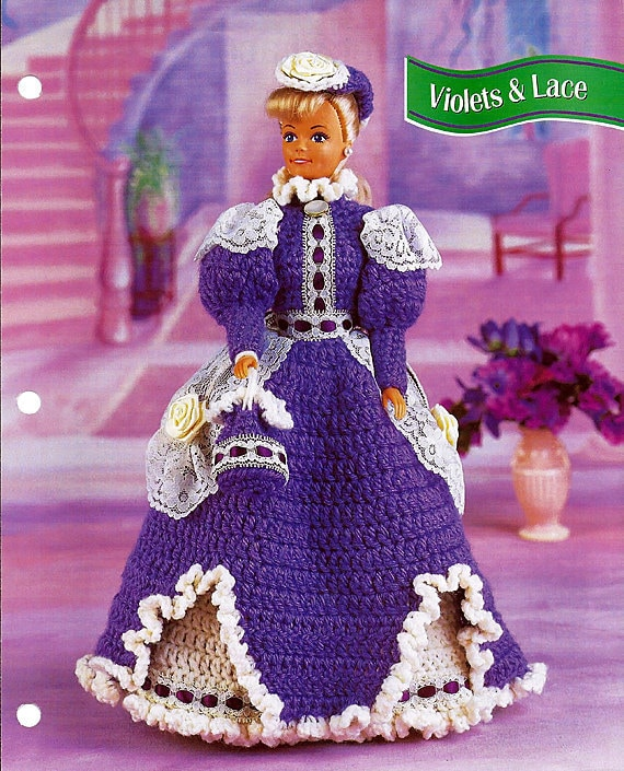 Snow Gown fits Barbie Doll Annie/'s Crochet Pattern//Instructions Leaflet NEW