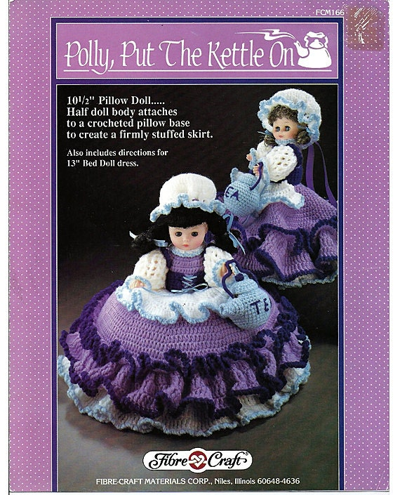 Polly Put The Kettle On Pillow Doll Music Box Doll Or Bed Etsy