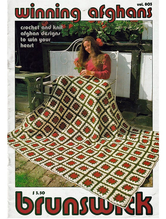 Gewinnen Afghanen zu häkeln und stricken Muster Buch Brunswick | Etsy