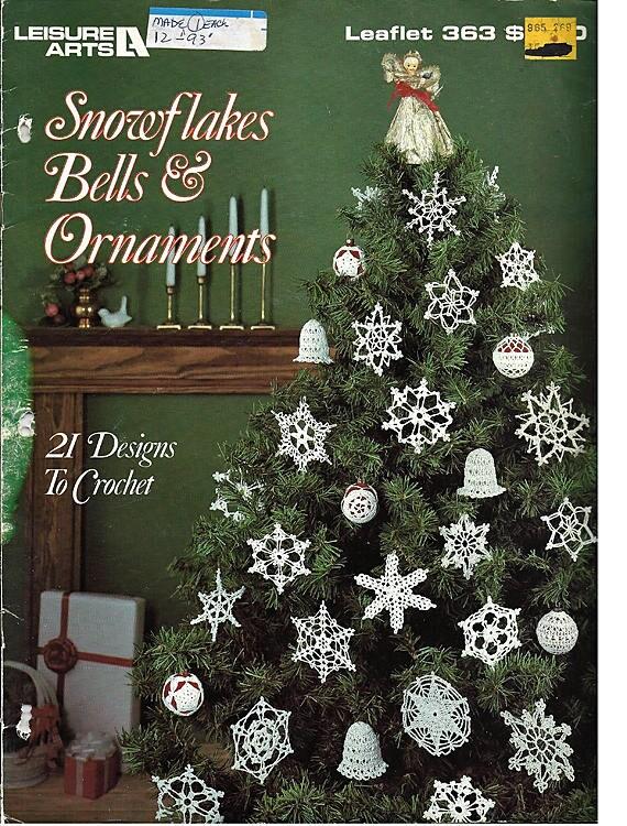 Schneeflocken Bellls Ornamente Zu Häkeln Muster Buch Leisure Etsy