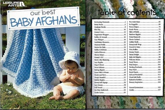 Unsere beste Baby Afghanen häkeln Muster Freizeit Buchkunst | Etsy