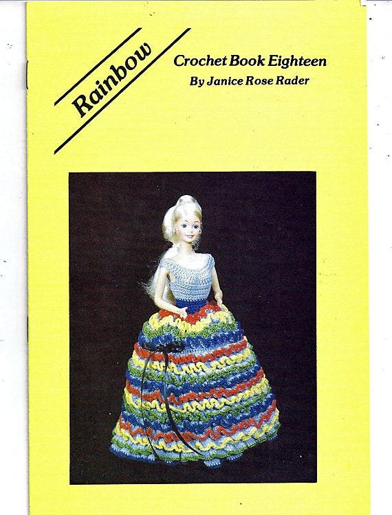 Regenbogen Mode Puppe häkeln Muster Buch achtzehn von Janice