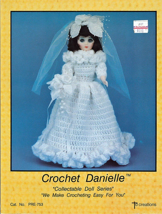 Häkeln Sie Danielle 15-Zoll-Puppe Muster TD Kreationen Katze.
