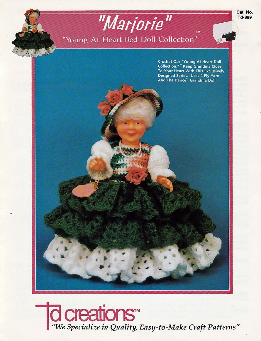 Marjorie Young At Heart Bed Doll Collection Crochet Doll Etsy