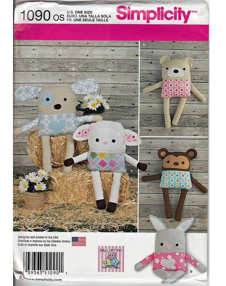 Simplicity Crafts Sewing Patterns Fashion Accessories Animals Dolls Uncut