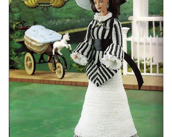 The Southern Belle  Collection Stroll With Baby  Fashion Doll  Crochet Pattern  Annies Attic