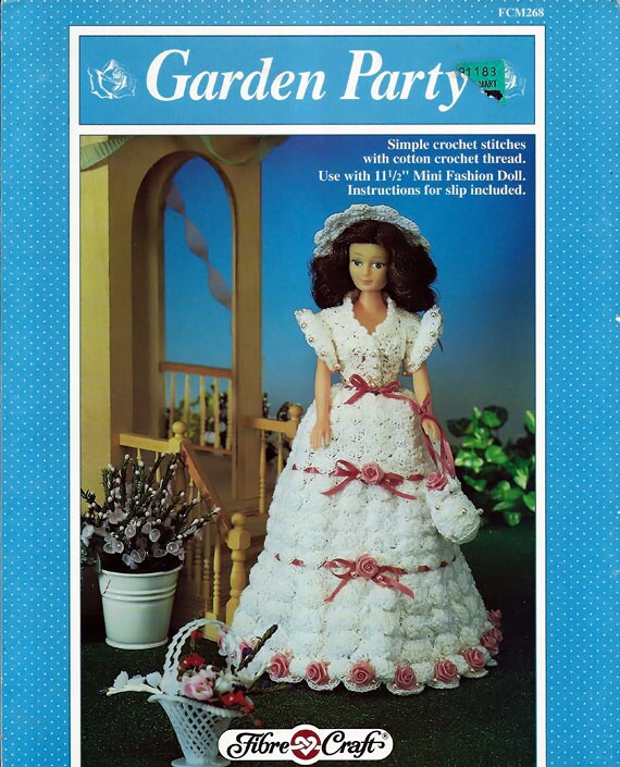 "Amy Dress for 11.5/"" Doll Fibre Craft Crochet Pattern//Instructions Leaflet"