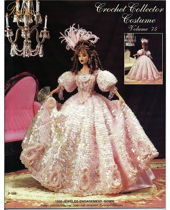 1926 Roaring 20/'s Bride Gown for Barbie Paradise Vol 77 Crochet PATTERN NEW