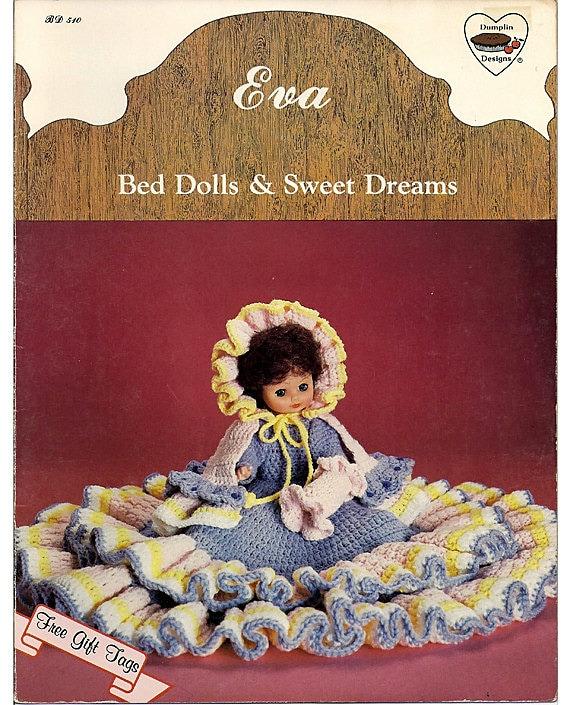 "Elizabeth Outfit for 13/"" Bed Doll Dumplin Designs Crochet Pattern Leaflet"