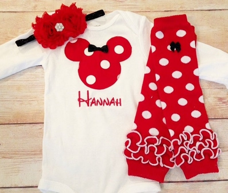 2c8ac093f6b Disney Trip Clothing Newborn Minnie Mouse Outfit Baby Girl | Etsy