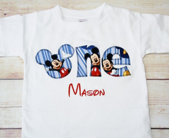 Mickey Mouse Birthday Shirt Outfit Boy