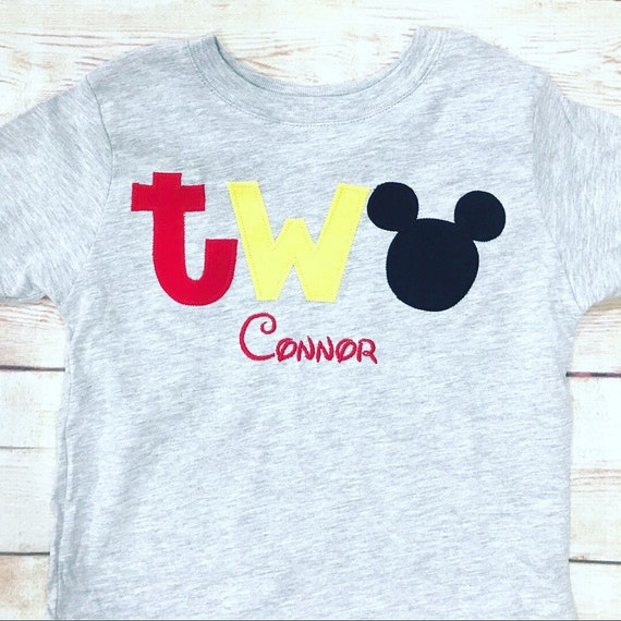 Mickey Mouse 2nd Birthday TWO Shirt Boy Outfit