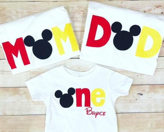 Disney Family Shirts Mickey Mouse Minnie Birthday
