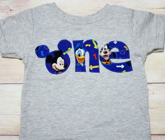 Mickey Mouse Clubhouse ONE or TWO Shirt / Mickey Donald Goofy