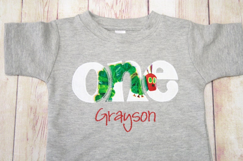 Very Hungry Caterpillar Birthday Shirt First