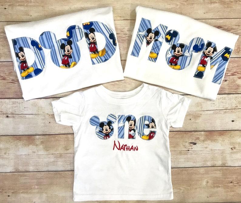 Disney Family Birthday Shirts Mickey Mouse Minnie