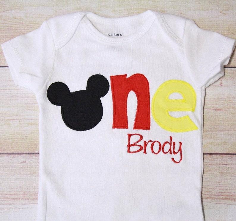 Mickey ONE Shirt Disney Cake Smash Mouse 1st Birthday