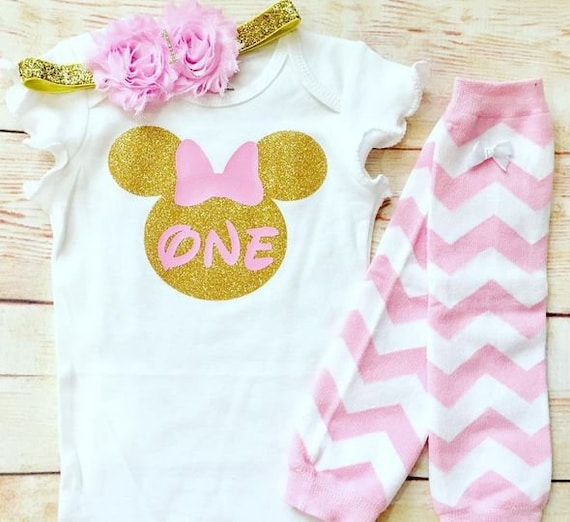 Boys or Girls Baby Minnie Mouse Baby Mickey Mouse Cake Smash Bodysuit or T-Shirt