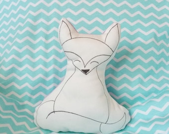 Fox shaped coconut-stuffed fox animals-cotton Fox toy-baby Gift box-gift for baby girl or baby boy-Fox Plush