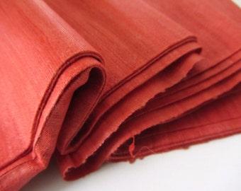 Cyber Monday Orange superb quality raw Indian silk nr 473 full yard/meter