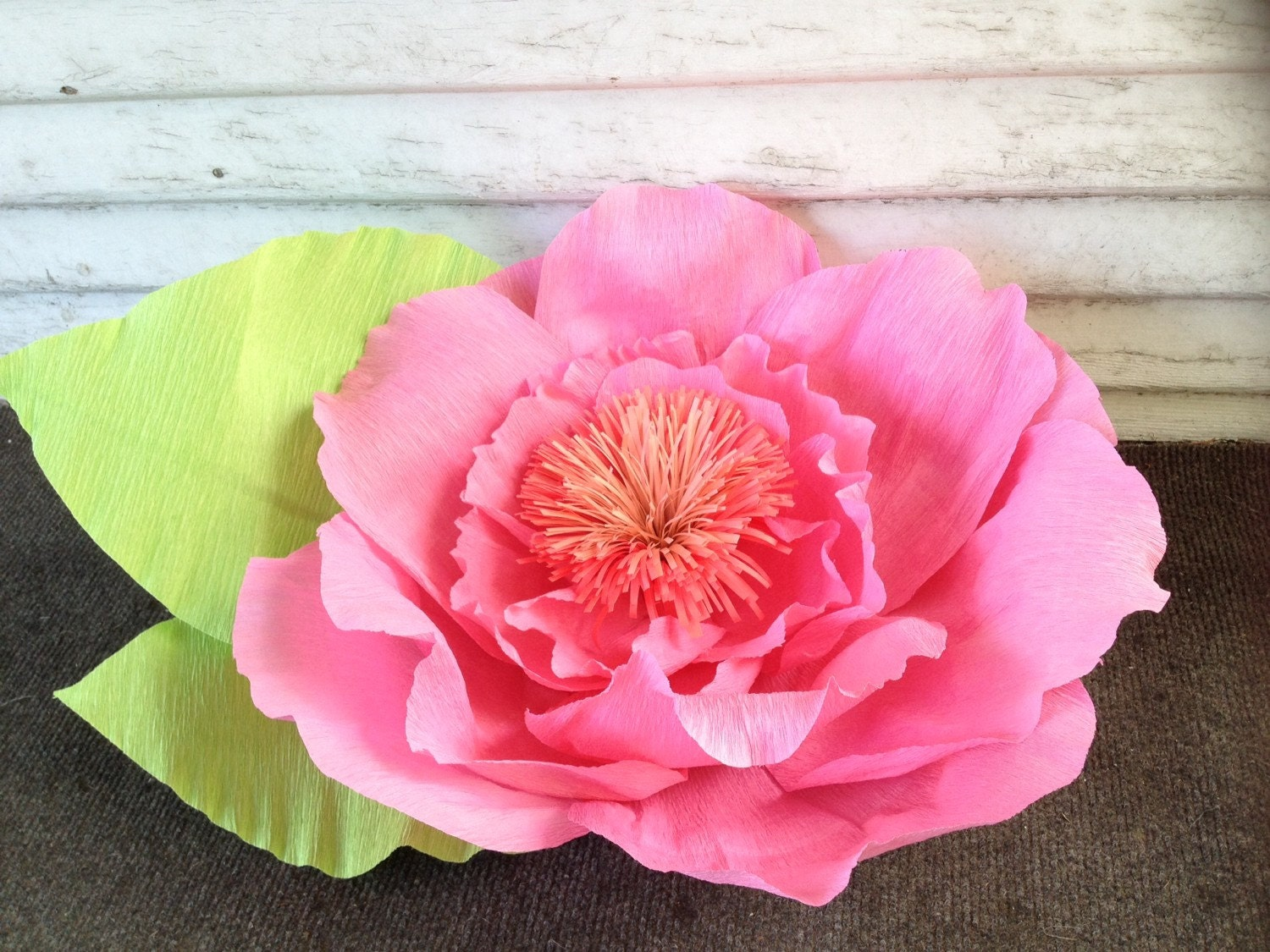 Giant Crepe Paper Flower Home Decor Party Flowers Big Etsy