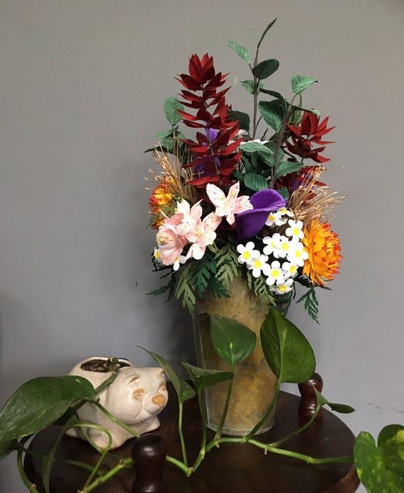 Paper Flower Bouquet Wild Flowers Realistic Paper Flowers Etsy