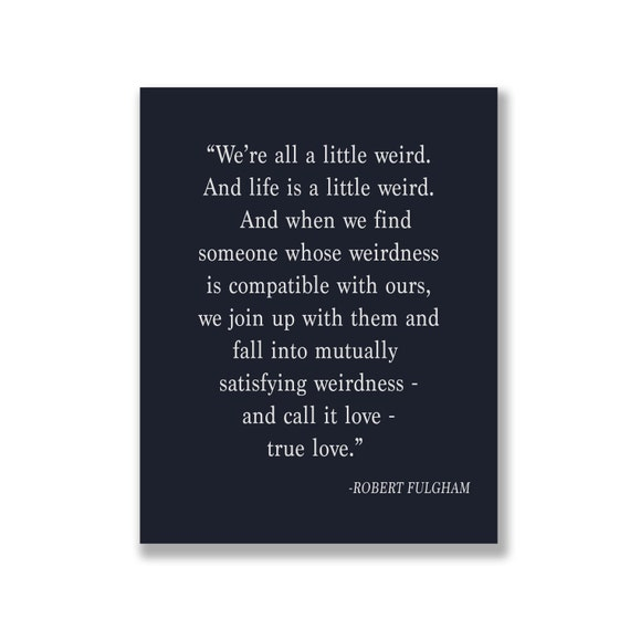 Navy Print Robert Fulgham Quote Were All A Little Etsy