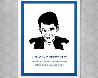 1ff5092a1 Ferris Bueller All Occasion Funny Illustrated Card