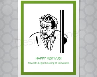 Seinfeld Frank Costanza Festivus Funny Illustrated Christmas Card