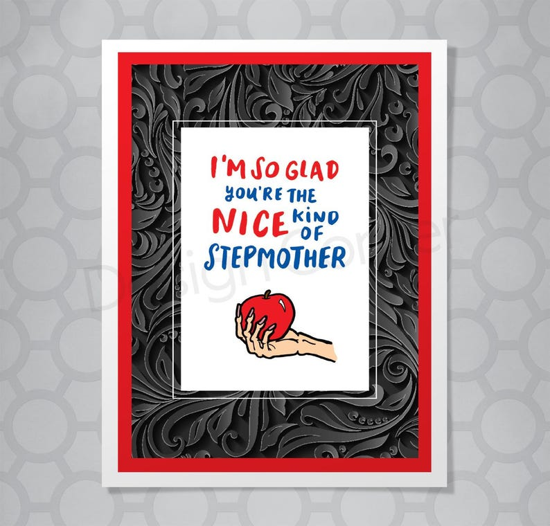 Funny Hand Lettered Stepmother Card