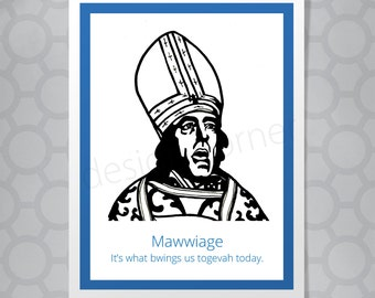 Princess Bride Mawwiage Priest Funny Illustrated Card