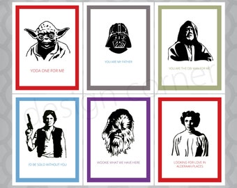Star Wars Funny Illustrated Cards - Set of 6
