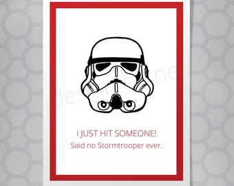 Star Wars Stormtrooper Funny Illustrated Card