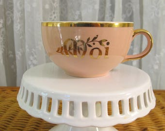 "Vintage 40's Villeroy & Boch pink ""Moi""cup"