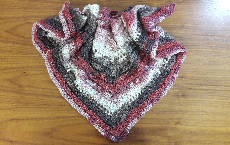 Baktus Scarf Crocheted Handmade Shawl Triangle Etsy