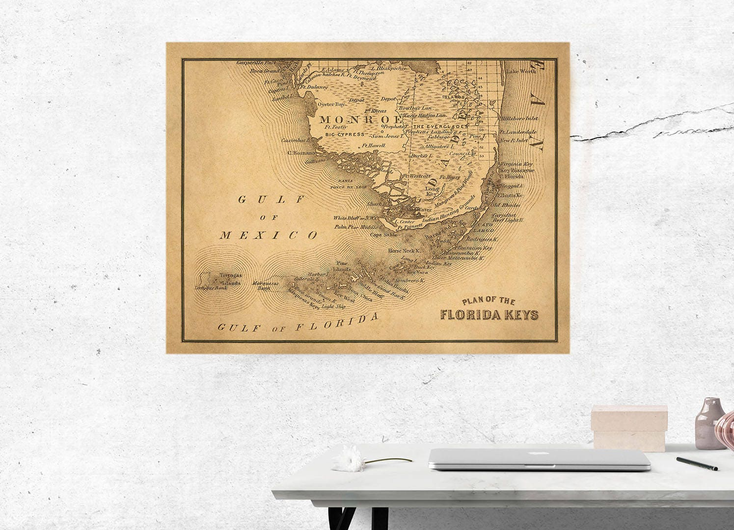 photo relating to Printable Map of Key West referred to as Higher Basic Map Of Most important West and South Florida, 2 conclude
