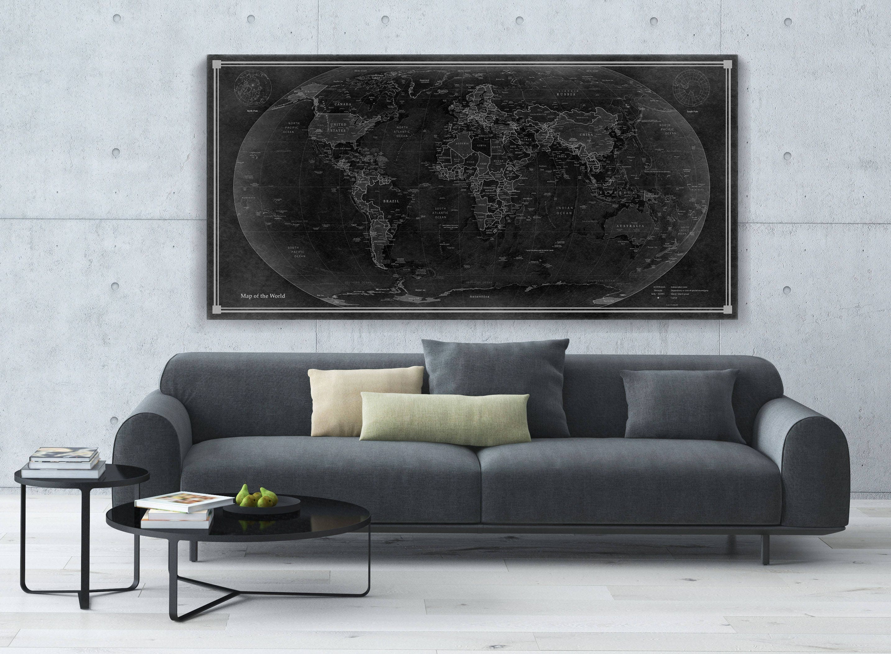 World map canvas or paper with old look 4080 max print or gallery world map canvas or paper with old look 4080 max print or gallery wrap 6 colors and 3 sizes to choose free shipping usa publicscrutiny Gallery