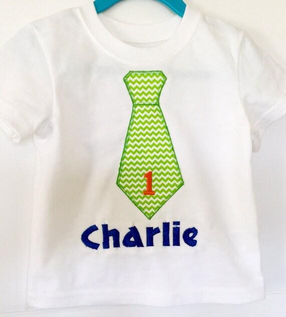 Babys First Birthday Shirt T With Tie Chevron Baby Boy