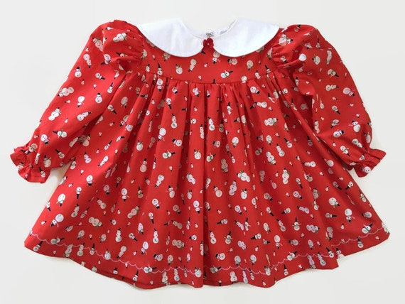 Toddler Christmas Outfit.Toddler Girls Christmas Dress Red Snowman Dress Holiday