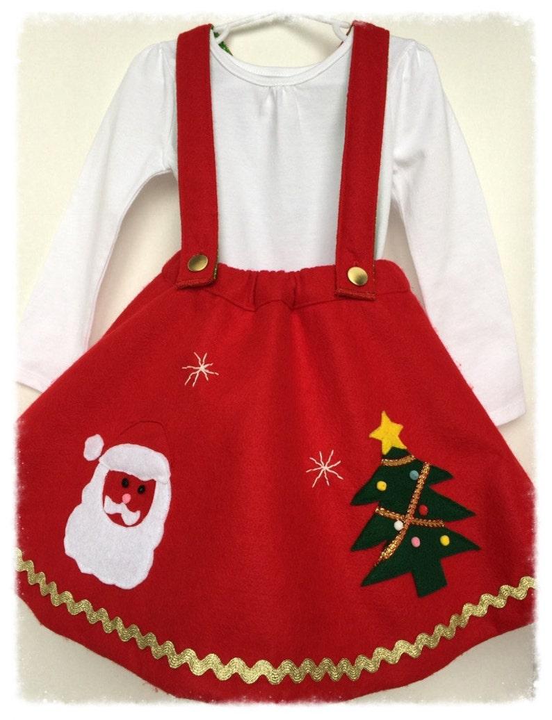 5b99ad6c5 Girls Christmas Skirt Toddler Christmas Dress Red