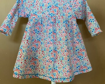 Baby Girl's Floral Dress - Cotton Dresses For Babies - Birthday Dresses - A Line Dress For Toddler - Gifts For Baby Girls