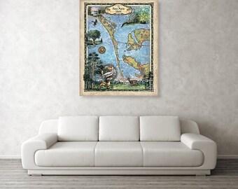 Map Of Anna Maria Island Florida.Anna Maria Island Etsy