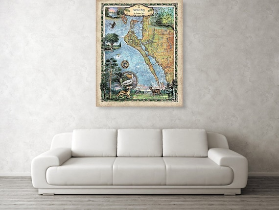 Siesta Key Siesta Key Map Siesta Key Art Siesta Key Etsy