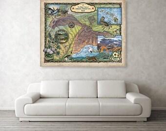 Hawaii map, map hawaii, Hawaiian map, map Hawaiian, hawaiian islands, HI map, map HI, volcanoes map, map volcanoes, volcanoes national